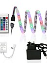 ZDM 2.5m Waterproof 150 x 2835 8mm RGB LED Strips Light Flexible and IR 24Key Remote Control with 12V1A Power AC100-240V