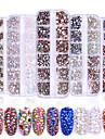 1 / låda Blandat Material Till Fingernageö Tånagel Moderiktig design / Självlysande Kreativ Hjärta nagel konst manikyr Pedikyr Glitters / Retro Bröllopsfest / Dagliga kläder