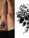 3 pcs Tatueringsklistermärken tillfälliga tatueringar Blomserier / Romantisk serie Miljövänlig / Ny Design Body art Kropp /Bröst / Dekalstil tillfälliga tatueringar / Tattoo Sticker