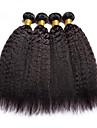 4 paket Brasilianskt hår Kinky Rakt Äkta hår Human Hår vävar bunt hår En Pack Lösning 8-28 tum Naurlig färg Hårförlängning av äkta hår Förlängning Bästa kvalitet Heta Försäljning Människohår / 8A