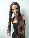 Syntetiska peruker Kostymperuker Rak Frisyr i lager Peruk Lång Beige Syntetiskt hår 22 tum Dam Moderiktig design Värmetåligt syntetisk Brun / Naturlig hårlinje / Naturlig hårlinje