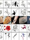 40 pcs tillfälliga tatueringar Totemserier / Djurserier Lena klistermärken / Säkerhet Body art Ansikte / Kropp / handled / Dekalstil tillfälliga tatueringar