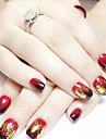 12 pcs Metall Glitter Nail Art Kit Nagelsmycken Till finger nagel konst manikyr Pedikyr Dagligen Punk / Bröllop / Mode / Nail Smycken