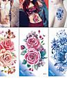 3 pcs Tatueringsklistermärken tillfälliga tatueringar Blomserier / Romantisk serie Miljövänlig / Ny Design Body art Kropp / arm / Bröst / Dekalstil tillfälliga tatueringar / Tattoo Sticker