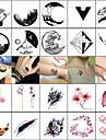 40 pcs tillfälliga tatueringar Lena klistermärken / Säkerhet Ansikte / Kropp / handled Vattenöverföringsklistermärke / Dekalstil tillfälliga tatueringar