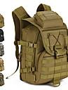 40 L Ryggsäckar Militär taktisk ryggsäck Regnsäker Slitstyrka Utomhus Militär Resor Nylon Grå Kamoflage Khaki grön / Ja