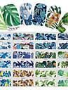 12 pcs Vattenöverföringsklistermärke Blom-tema / Blomserier nagel konst manikyr Pedikyr Ny Design / Bästa kvalitet Tropisk / Renässans Fest / afton / Maskerad / Familjesammankomst