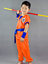 Inspirerad av Dragon Ball Son Goku Animé Cosplay-kostymer Japanska cosplay Suits Ord / fras Kortärmad Topp / Byxor / Skärp Till Pojkar
