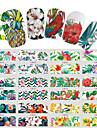 12 pcs Vattenöverföringsklistermärke Blomserier / Blom-tema nagel konst manikyr Pedikyr Ny Design / Bästa kvalitet Tropisk / Renässans Fest / afton / Maskerad / Familjesammankomst