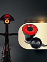 LED Cykellyktor säkerhetslampor Bike Horn Light Bergscykling Cykel Cykelsport Vattentät Smart induktion Osynlig Lättvikt Li-jon 50 lm USB Röd Cykling