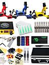 DRAGONHAWK Tattoo Machine Professionell Tattoo Kit - 3 pcs Tatueringsmaskiner, Professionell / Säkerhet / Lätt att installera Legering LCD strömförsörjning Fodral inkluderat 3 x roterande