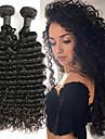 2 paket Peruanskt hår Deep Curly Äkta hår Hårförlängningar av äkta hår 8-26 tum Naturlig Hårförlängning av äkta hår Bästa kvalitet Ny ankomst Heta Försäljning Människohår förlängningar / 8A