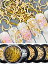 1 / låda Akrylfiber / Legering Till Fingernageö Tånagel Moderiktig design / Självlysande Smyckeserier Vintage Theme nagel konst manikyr Pedikyr Glitters / Retro Bröllopsfest / Dagliga kläder