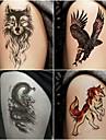 10 pcs tillfälliga tatueringar Totemserier / Djurserier Lena klistermärken / Säkerhet Body art / Dekalstil tillfälliga tatueringar