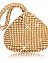Dam Kristalldetaljer / Glitter PU Aftonväska Rhinestone Crystal Evening Bags Svart / Guld / Silver