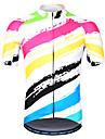 Arsuxeo Herr Kortärmad Cykeltröja Vit Cykel Tröja Bergscykling Vägcykling Reflexremsa Svettavvisande sporter 100% Polyester Kläder