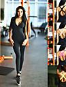 Dam Hög midja Workout Jumpsuit Öppen Rygg Färgblock Svart Vit Fuchsia Grön Elastan Löpning Dans Fitness Kroppsdräkt Byxdress Ärmlös Sport Sportkläder Fuktabsorberande Butt Lift Magkontroll Hög