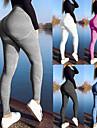 Dam Yoga byxor Ensfärgat Elastan Zumba Löpning Dans Cykling Tights Leggings Sportkläder Andningsfunktion Anatomisk design Butt Lift Elastisk Skinny