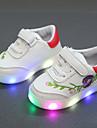 Pojkar / Flickor Komfort / Lysande skor PU Sneakers Småbarn (9m-4ys) / Lilla barn (4-7år) Krok och ögla / LED Svart / Röd / Grön Vår & Höst