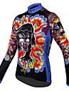 ILPALADINO Women\'s Long Sleeve Cycling Jersey Winter Polyester Blue Purple Red Floral Botanical Plus Size Bike Jersey Top Mountain Bike MTB Road Bike Cycling Breathable Quick Dry Sports Clothing