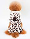Hund Katt Kappor Vinter Hundkläder Brun Kostym Dalmatiner Mops Bichon Frisé 100% Korall Fleece Leopard Ledigt / vardag Uppvärmning S M L XL XXL