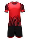 Herr Fotboll Collegetröja Andningsfunktion Fuktabsorberande Fotboll Geometrisk Polyester / Bomullsblandning Vuxen Grön Blå Rosa