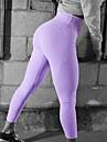 Dam Hög midja Ficka Yoga byxor Ensfärgat Elastan Zumba Löpning Dans Leggings Sportkläder Butt Lift Magkontroll Sportflex 4-vägs sträcka Elastisk Smal