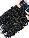 4 paket Peruanskt hår Vattenvågor Äkta hår Human Hår vävar bunt hår Hårförlängningar av äkta hår 8-28 tum Naurlig färg Hårförlängning av äkta hår Dam Förlängning Bästa kvalitet Människohår / 8A