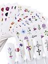 24 pcs Vattenöverföringsklistermärke Kreativ / Blomma nagel konst manikyr Pedikyr Multifunktion / Bästa kvalitet Ljuv / Mode Fest / afton / Dagligen / Festival