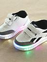 Pojkar / Flickor Komfort / Lysande skor PU Sneakers Småbarn (9m-4ys) / Lilla barn (4-7år) Krok och ögla / LED Vit / Svart Höst vinter