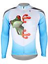 ILPALADINO Herr Långärmad Cykeltröja Blå och Vit Orange Gul Groda Cykel Tröja Överdelar Bergscykling Vägcykling Andningsfunktion Snabb tork UV-Resistent sporter 100% Polyester Kläder