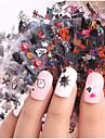 24 pcs 3D Nagelstickers Kreativ nagel konst manikyr Pedikyr Multifunktion / Bästa kvalitet Mode Dagligen / Festival