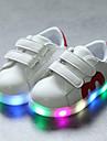 Pojkar / Flickor Komfort / Lysande skor PU Sneakers Krok och ögla / LED Svart / Röd / Blå Vår & Höst