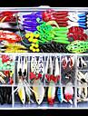 141 pcs Fiskbete Hårt bete Mjukt bete Lätt att använda Flytande Bass Forell Gädda Sjöfiske Flugfiske Kastfiske Blandat Material / Isfiske / Spinnfiske / Jiggfiske / Färskvatten Fiske / Karpfiske