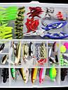 101 pcs Fiskbete Hårt bete Mjukt bete Lätt att bära Lätt att använda Sjunker Bass Forell Gädda Sjöfiske Flugfiske Kastfiske Blandat Material / Isfiske / Spinnfiske / Jiggfiske / Färskvatten Fiske