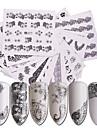 48 pcs Vattenöverföringsklistermärke Kreativ nagel konst manikyr Pedikyr Multifunktion / Bästa kvalitet Trendig Dagligen / Festival