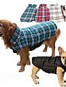 Hund Kappor Väst Vinter Hundkläder Brun Grön Röd Kostym Husky Labrador alaskan malamute Cotton Pläd / Rutig Vattentät Håller värmen Vändbar XS S M L XL XXL