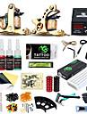 DRAGONHAWK Tattoo Machine Startkit, 2 pcs Tatueringsmaskiner med 4 x 5 ml tatueringsfärger - 2 x gjutjärn tatuering maskin för linjer och