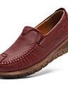 Dam Loafers & Slip-Ons Kilklack Läder Vintage / Ledigt Höst Svart / Vin / Dagligen