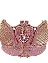 Dam Kristalldetaljer / Ihålig Legering Aftonväska Rhinestone Crystal Evening Bags Ensfärgat Rodnande Rosa / Höst vinter