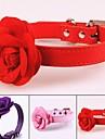 Hund Halsband Bärbar Infällbar Hundar & Katter Enfärgad Blomma PU-läder / Polyuretan Läder Purpur Röd Rosa