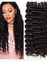 3 paket Brasilianskt hår Deep Curly Obehandlad hår 100% Remy Hair Weave Bundles Huvudbonad Human Hår vävar Hårvård 8-28 tum Naurlig färg Hårförlängning av äkta hår Mjuk Silkig Bästa kvalitet