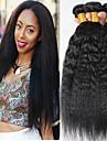 4 paket Malaysiskt hår Yaki Rakt Äkta hår Obehandlat Mänsligt hår Human Hår vävar Förlängare bunt hår 8-28 tum Naurlig färg Hårförlängning av äkta hår Bästa kvalitet Tjock 100% Jungfru Människohår