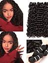 3 paket Brasilianskt hår Vattenvågor Äkta hår Human Hår vävar bunt hår En Pack Lösning 8-28 tum Naturlig Naurlig färg Hårförlängning av äkta hår Silkig Förlängning Bästa kvalitet Människohår / 8A