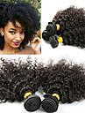 3 paket Peruanskt hår Afro Kinky Kinky Curly Remy-hår Hårförlängningar av äkta hår 8-26 tum Naturlig Hårförlängning av äkta hår Bästa kvalitet Ny ankomst Heta Försäljning Människohår förlängningar