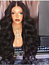 Remy-hår Spetsfront Peruk Frisyr i lager stil Brasilianskt hår Kroppsvågor Svart Peruk 180% Hårtäthet med babyhår Naturlig hårlinje Till färgade kvinnor obearbetade Dam Lång Äkta peruker med hätta