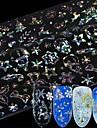 8 pcs 3D Nagelstickers Snöflinga nagel konst manikyr Pedikyr Multifunktion / Bästa kvalitet Mode Dagligen / Festival