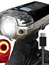 LED Cykellyktor Set med laddningsbar cykelbelysning Baklykta till cykel säkerhetslampor Bergscykling Cykel Cykelsport Vattentät Jätteljus Bärbar Enkel att bära USB 1000 lm Laddningsbart USB Naturlig
