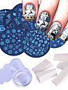16 pcs Nail Painting Tools Stamper & Scraper Mall Romantisk serie / Tecknad serie Ergonomisk design / Klassisk / Bästa kvalitet nagel konst manikyr Pedikyr Europeisk / folk Style Jul / Halloween