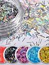 pvc Glitter Paljetter Till Fingernageö Tånagel Ny Design / Slim design / Skiftande färg Romantisk serie White Series nagel konst manikyr Pedikyr Mode / Franska Speciellt Tillfälle / Dagligen